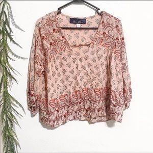 3/$25 Francescas Floral blouse